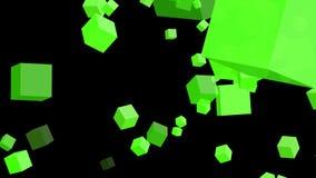 Cubos verdes en el fondo blanco almacen de metraje de vídeo