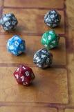 Cubos vermelhos, azuis, verdes e cinzentos Imagem de Stock Royalty Free