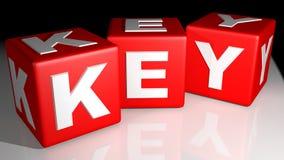 Cubos vermelhos chaves Foto de Stock