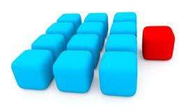 Cubos vermelhos e azuis Fotografia de Stock Royalty Free