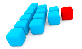 Cubos vermelhos e azuis Foto de Stock