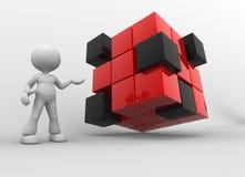 Cubos vermelhos e pretos ilustração stock