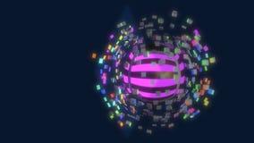 Cubos y esfera abstractos del fondo, representación 3d ilustración del vector