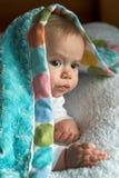 Cubra al bebé Foto de archivo
