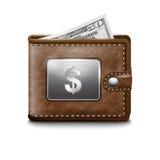 Cubra a carteira com dólar EUA Ilustração do Vetor