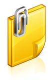 Cubra con un clip de papel Fotografía de archivo libre de regalías