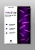 Cubra el diseño con las bacterias del flagelo en luminiscencia púrpura Vector Imagen de archivo