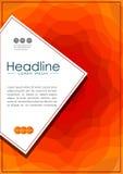Cubra el diseño en A4 con las líneas abstractas anaranjadas onduladas Imagenes de archivo