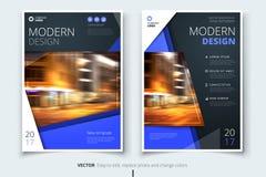Cubra el diseño para el folleto, aviador, informe, catálogo, presentación, cartel Plantilla moderna de la disposición de tamaño A stock de ilustración