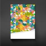 Cubra el fondo colorido de la geometría del triángulo para el diseño, el vector y el ejemplo de la plantilla del negocio corporat Fotos de archivo libres de regalías
