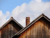 Cubra el hogar de la casa de los picos foto de archivo