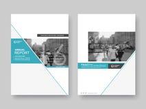 Cubra el informe annnual del diseño, aviador, presentación, folleto ilustración del vector