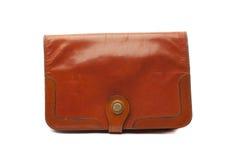 Cubra el marrón del bolso con cuero de la mujer Imágenes de archivo libres de regalías
