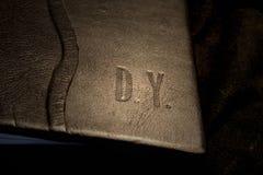 Cubra la cubierta de libro con cuero imágenes de archivo libres de regalías
