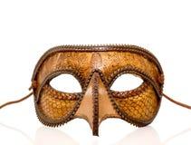 Cubra la media máscara con cuero italiana Imagen de archivo libre de regalías