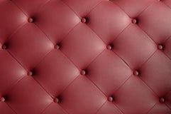 Cubra la textura del sofá con cuero Fotos de archivo