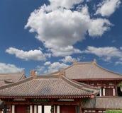 Cubra las decoraciones en la pagoda salvaje gigante del ganso del territorio--Xian (Sian, Xi'an) imagen de archivo libre de regalías