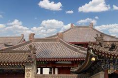 Cubra las decoraciones en la pagoda salvaje gigante del ganso del territorio--Xian (Sian, Xi'an) imágenes de archivo libres de regalías
