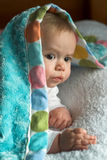 Cubra o bebê Foto de Stock