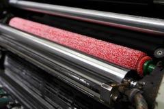 Cubra rolos na máquina de impressão deslocada Fotos de Stock Royalty Free