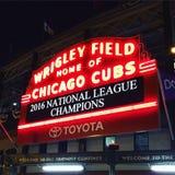 ¡Cubs gana! Foto de archivo