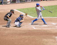 Cubs vs Brewers. Miller park stadium, Milwaukee Wisconsin. July 31st, 2008. Cubs vs Brewers. #16 Aramis Ramirez batting Stock Photo