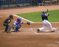 Cubs vs Brewers Stock Images