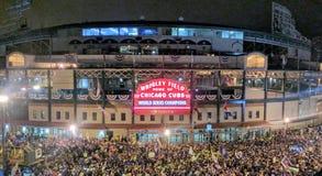 Cubs wygrany mistrzostwa świata zdjęcie royalty free