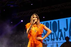 Cuca Roseta, Portugal Kriol Jazz Festival stockfotografie