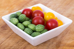 Cucamelon and cherry tomatoes Royalty Free Stock Photography