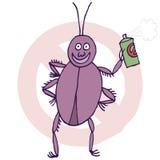 Cucaracha y bugspray Fotos de archivo libres de regalías