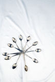 Cucchiai d'annata (effetto d'annata) Fotografia Stock