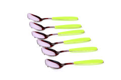 Cucchiai dell'acciaio inossidabile Fotografie Stock Libere da Diritti