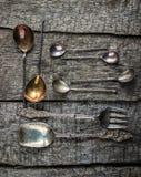 Cucchiai dell'annata Immagini Stock