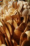 Cucchiai di legno Immagine Stock