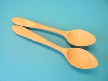 Cucchiai di legno Fotografie Stock Libere da Diritti