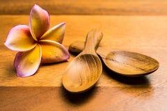 Cucchiai di legno Fotografia Stock
