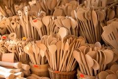 Cucchiai di legno Fotografie Stock