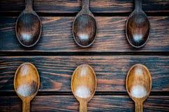 Cucchiai di legno Immagine Stock Libera da Diritti