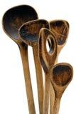 Cucchiai di legno dell'annata Immagini Stock Libere da Diritti
