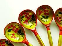 Cucchiai di legno russi Fotografia Stock