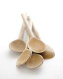 Cucchiai di legno rustici Fotografia Stock Libera da Diritti