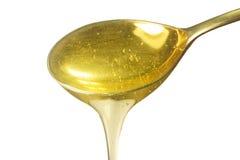 Cucchiaio con miele isolato Fotografia Stock
