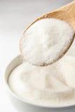 Cucchiaio con zucchero Fotografia Stock