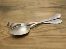 Cucchiaio d'argento e per fotografie stock libere da diritti