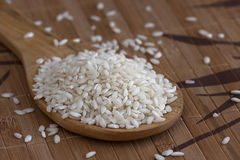 Cucchiaio del riso bianco Fotografia Stock