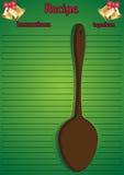 Cucchiaio della pagina di ricetta di Natale grande Immagine Stock