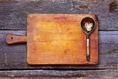 Cucchiaio di legno Immagine Stock