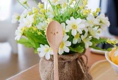Cucchiaio di legno Immagini Stock Libere da Diritti