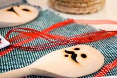 Cucchiaio di legno Fotografie Stock Libere da Diritti